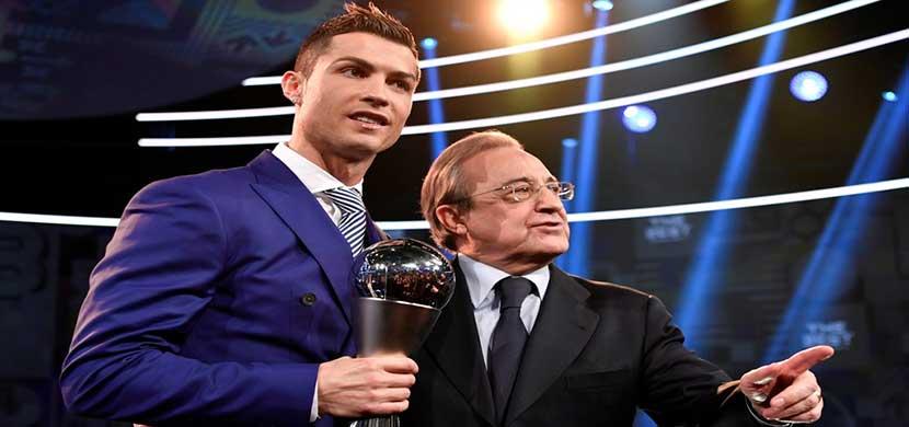 رونالدو وبيريز رئيس ريال مدريد