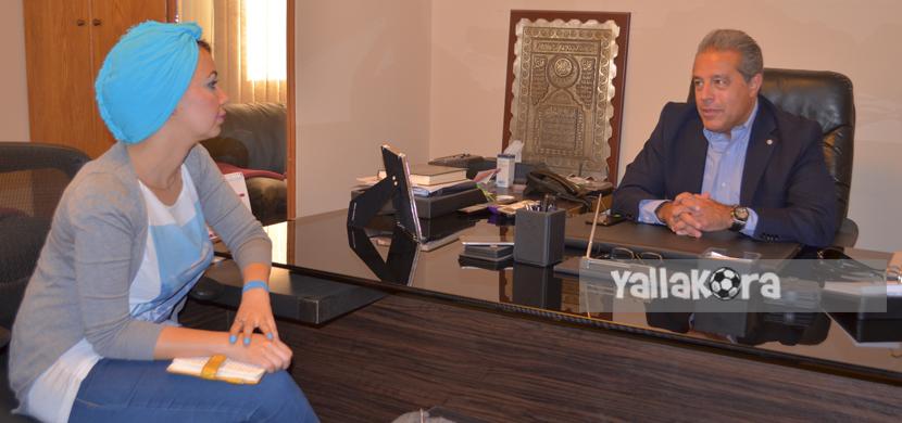 حوار خالد الدرندلي مع مراسلة يلا كورة