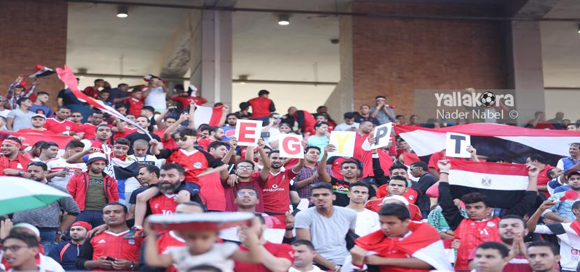الجماهير قبل مباراة مصر والكونغو