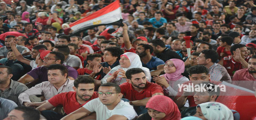احتفال جماهير مصر في مركز شباب الجزيرة