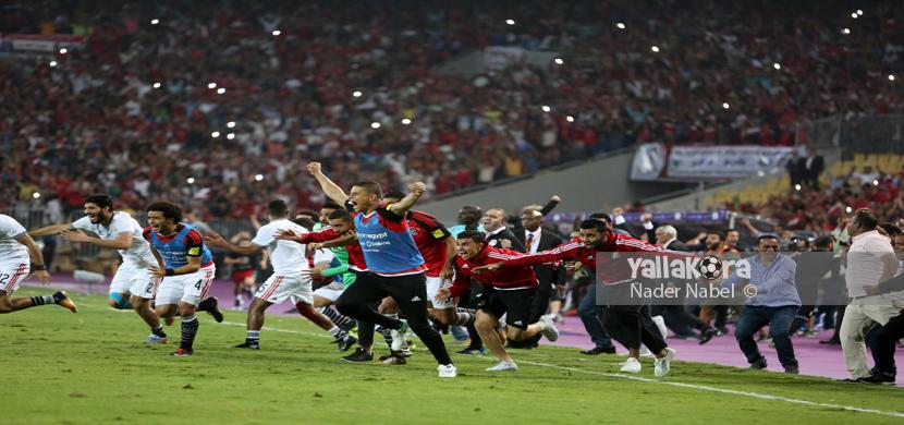 احتفال لاعبي مصر