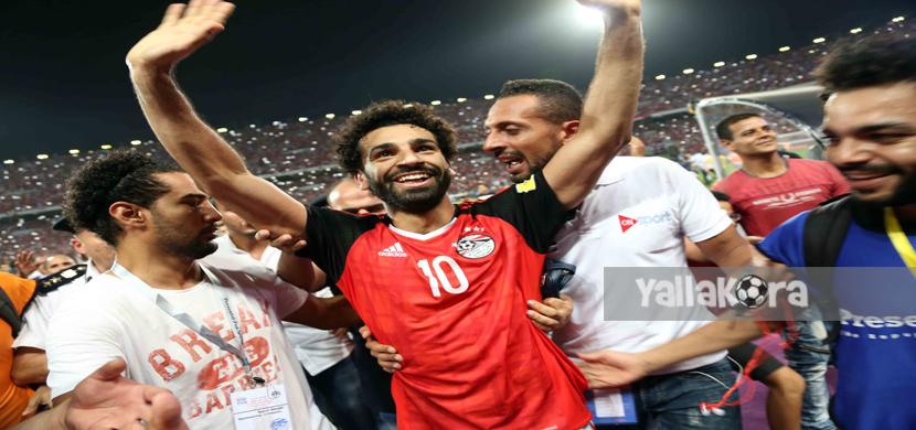 احتفال صلاح بعد الفوز