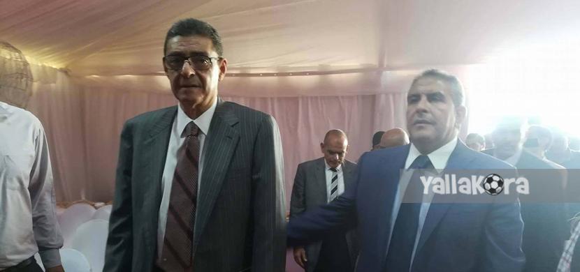 طاهر ابوزيد يتواجد مع محمود طاهر اثناء وضع حجر الا