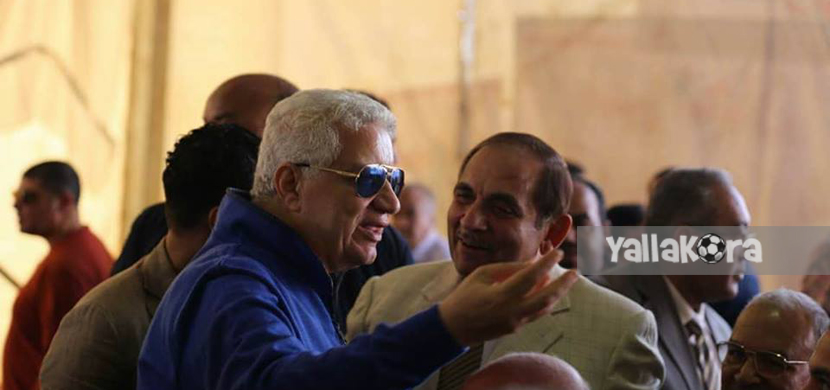 سيد مشعل وزير الانتاج الحربي السابق مع مرتضى