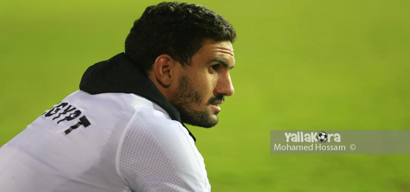 محمد عواد فى تدريبات منتخب مصر