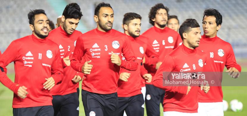 التدريب الأول لمنتخب مصر