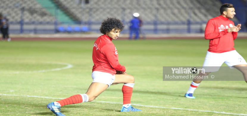 عمرو ورده فى تدريب منتخب مصر