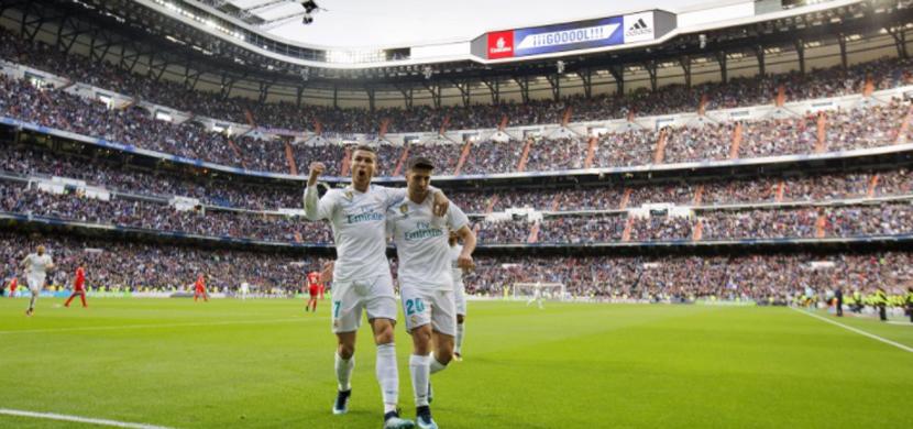 احتفال لاعبي ريال مدريد