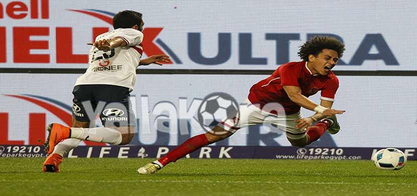 لقطة لحسين السيد فى المباراة
