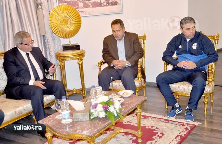 لقاء وزير الشباب والرياضة لمنتخب الشباب