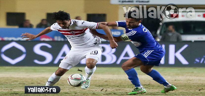 لقطة لمحمد ابراهيم فى المباراة