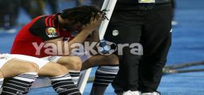 حزن لاعبي مصر بعد خسارة نهائي إفريقيا