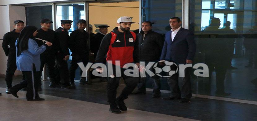 عبد الله السعيد بمطار القاهرة