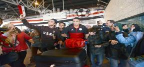 وصول بعثة منتخب مصر لمطار القاهرة