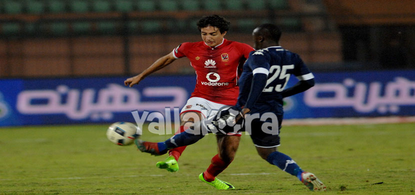 لقطة لمحمد هانى فى المباراة