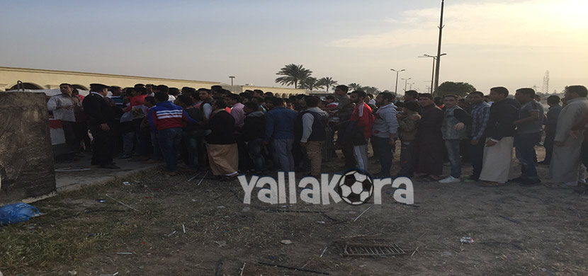 توافد الجماهير لمباراة مصر وتوجو