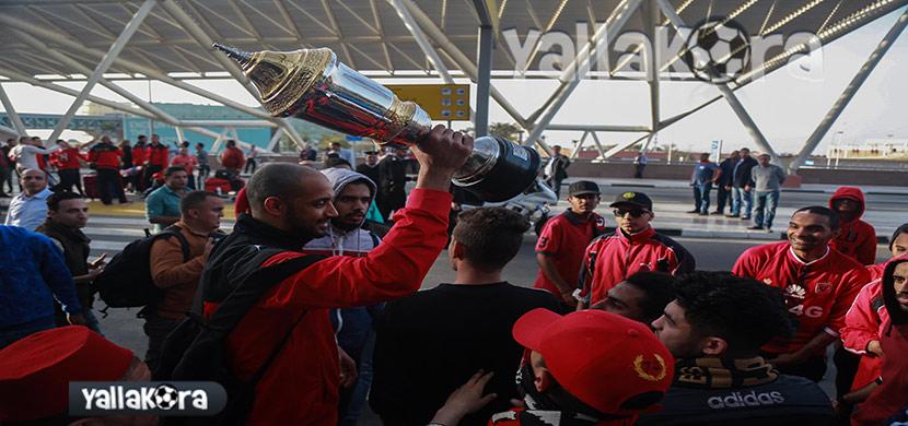 وصول فريق الأهلي للكرة الطائرة لمطار القاهرة