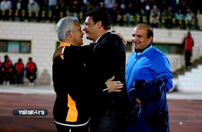 ايهاب جلال ومحمد حلمي قبل المباراة