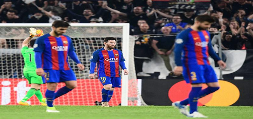 حزن لاعبي برشلونة