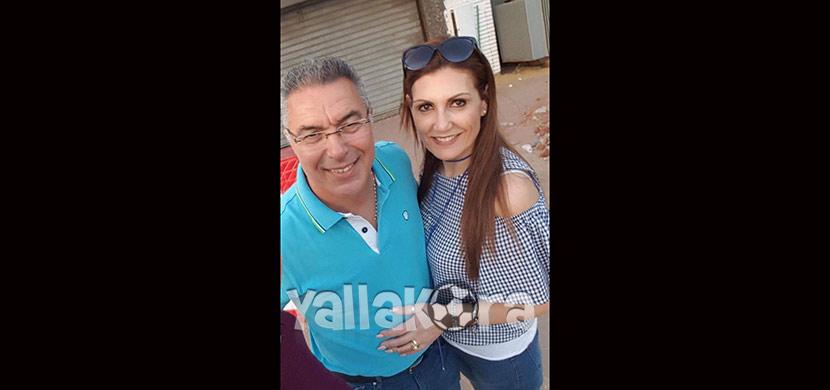 ايناسيو مع زوجته بنادي الزمالك