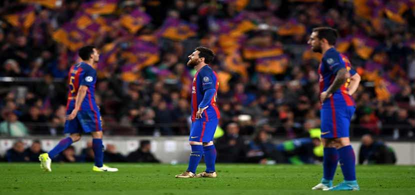 ردة فعل لاعبي برشلونة
