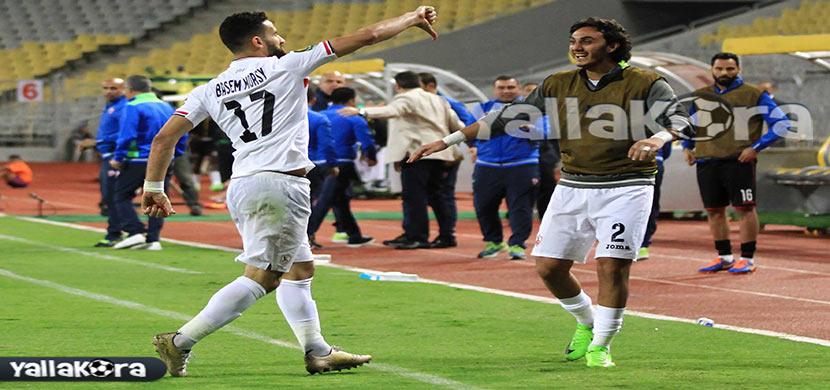 احتفال باسم مرسي فى المباراة