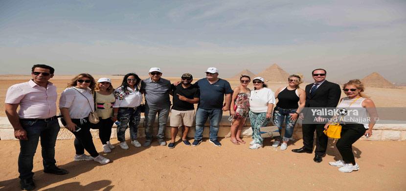 زيارة عائلة رونالدو للأهرامات