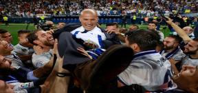 إحتفال لاعبي ريال مدريد بعد الفوز بالليجا