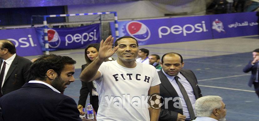 خالد بيبو فى ختام دوري بيبسي للمدارس