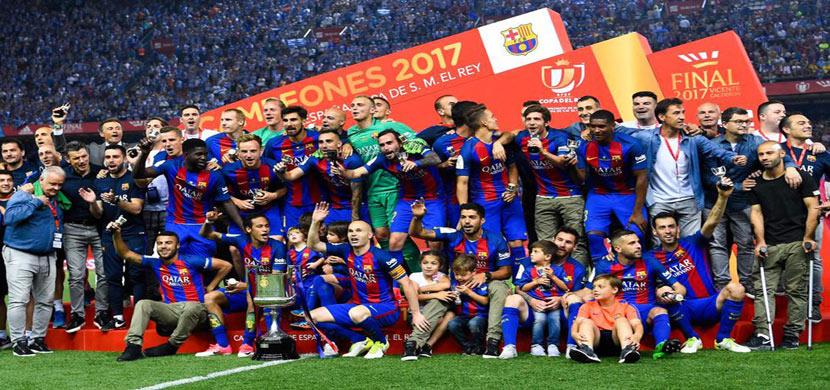 تتويج برشلونة بطلاً لكأس ملك اسبانيا