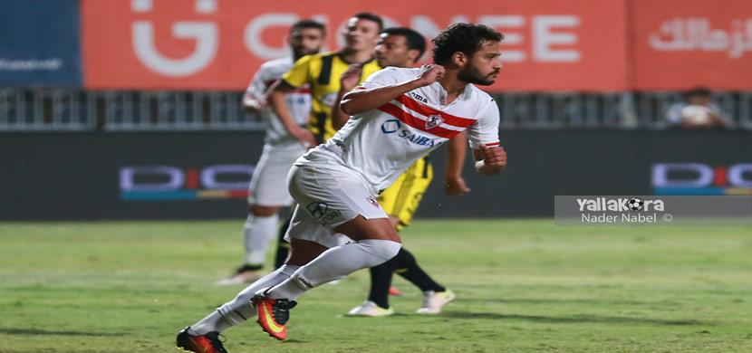 احتفال احمد رفعت فى المباراة