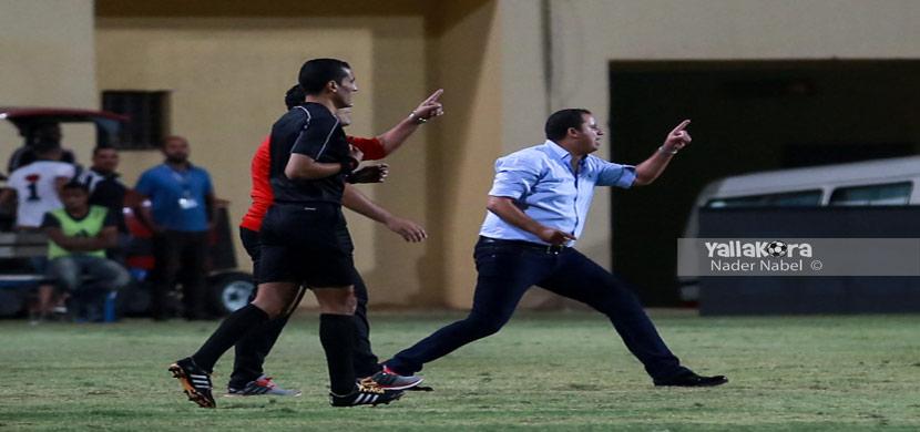 انفعال محمد عوده المدير الفنى للمقاولون