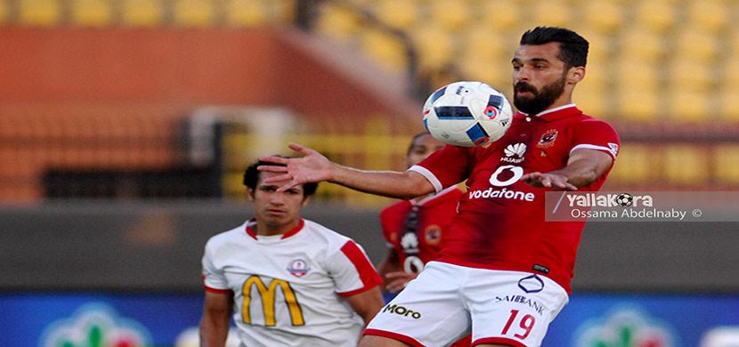 عبد الله السعيد فى مباراة الأهلي والنصرللتعدين