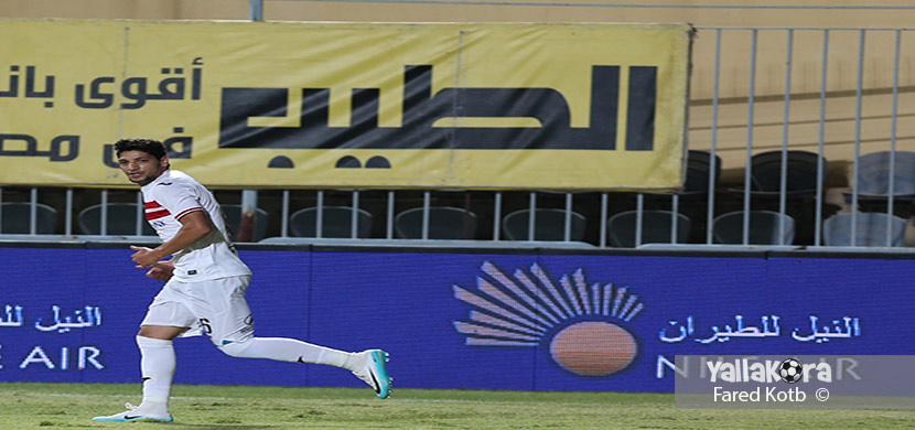 لقطة لمحمد مسعد فى المباراة