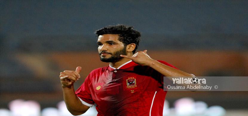 احتفال صالح جمعه في المباراة