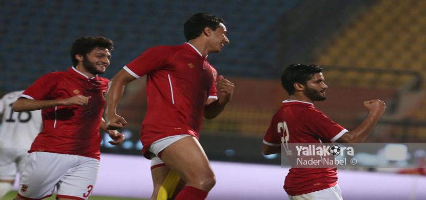 فرحة صالح جمعه ولاعبي الاهلي امام دجلة