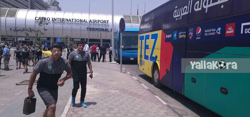 وصول الفرق المشاركة في البطولة العربية للقاهرة