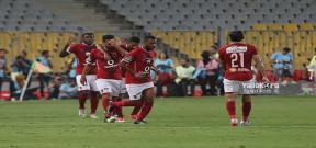 إحتفال لاعبي الأهلي في مباراة القمة 114