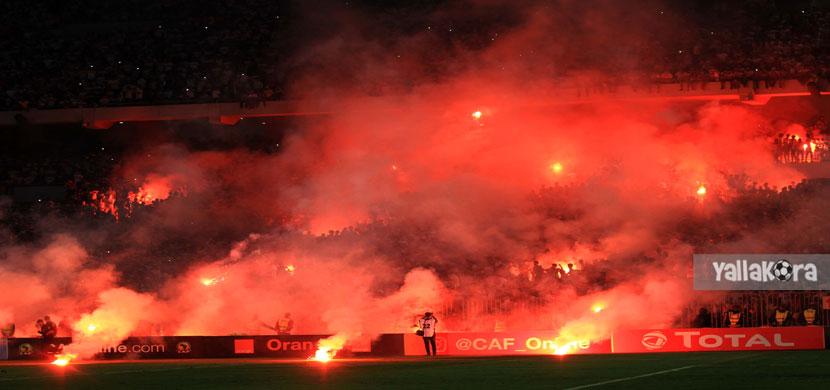 شماريخ جماهير الزمالك في مباراة اهلي طرابلس