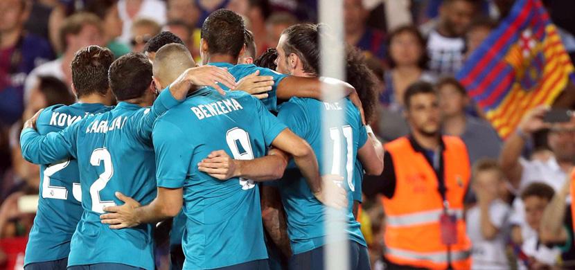 فرحة لاعبي ريال مدريد في المباراة