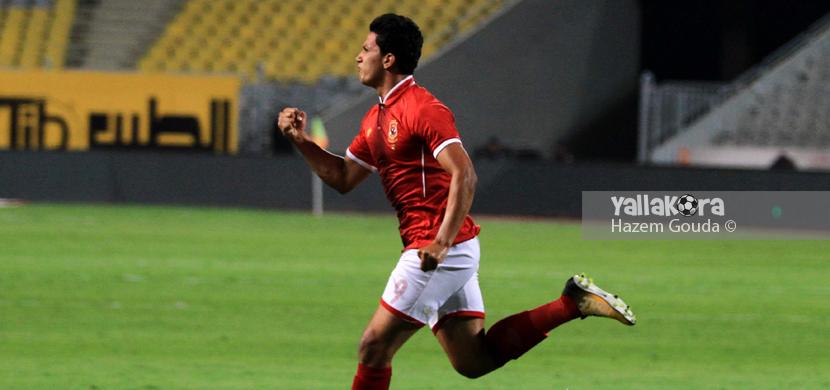 فرحة عمرو جمال بهدفه