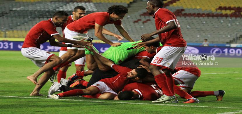 فرحة لاعبي الاهلي بالفوز بكأس مصر