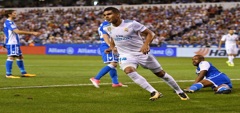 لقطة لكاسيميرو في المباراة
