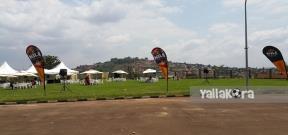 أجواء ملعب مباراة أوغندا ومصر قبل المباراة