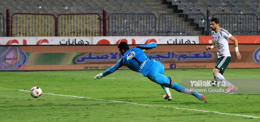 هدف المصري الثاني في مرمي الزمالك