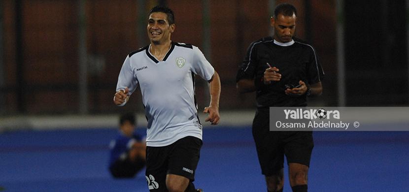 احتفال عاصم صلاح بعد احرازه هدف