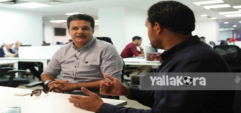ندوة إيهاب جلال المدير الفني السابق للمقاصة