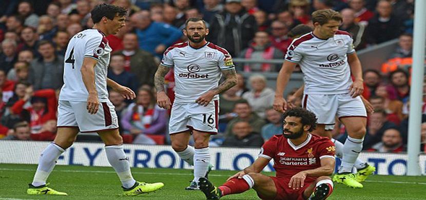 لقطة لمحمد صلاح في المباراة