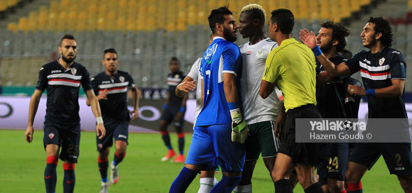 مشادة بين لاعبي الزمالك والمصري