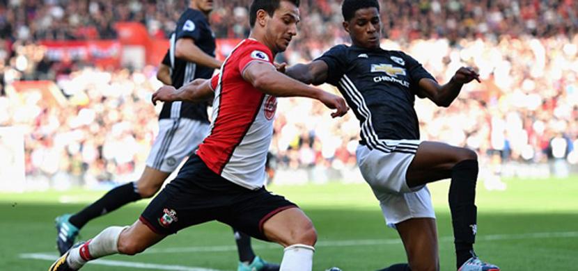 لقطة من مباراة ساوثهامبتون ومانشستر يونايتد
